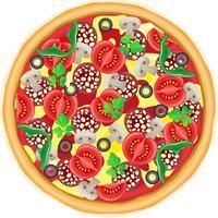 illustrazione vettoriale di pizza
