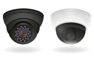 illustrazione vettoriale di telecamere di sorveglianza