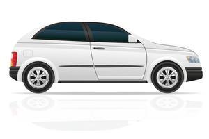 illustrazione vettoriale di auto hatchback