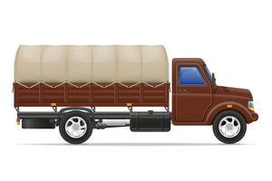 camion del carico per il trasporto di merci illustrazione vettoriale
