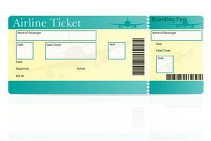 illustrazione di vettore del biglietto aereo