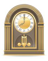 vecchio orologio retrò icona illustrazione vettoriali stock