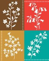 Posizionamento grafico floreale vettoriale botanico