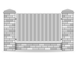 illustrazione vettoriale di mattoni recinzione