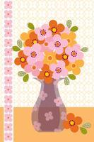 bouquet in posizione grafica vettoriale vaso