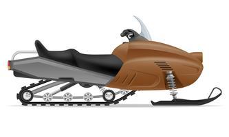 motoslitta per l'illustrazione vettoriale di neve corsa