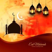 Disegno astratto di sfondo religioso di Eid Mubarak vettore