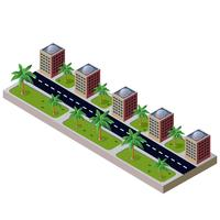 paesaggio urbano vettore