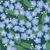 Astratto motivo floreale senza soluzione di continuità. Sfondo di primavera di fiori.