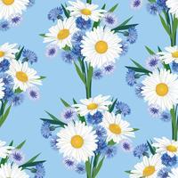 Astratto motivo floreale senza soluzione di continuità. Sfondo di fiori estivi.