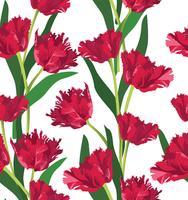 Astratto motivo floreale senza soluzione di continuità. Sfondo di fiori estivi. vettore