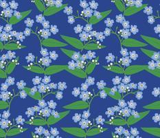 Astratto motivo floreale senza soluzione di continuità. Sfondo di primavera di fiori. vettore