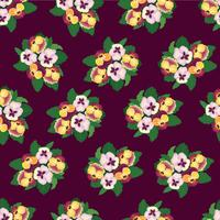 Astratto motivo floreale senza soluzione di continuità. Sfondo ornamentale di fiori vettore