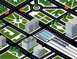 Città isometrica vettore