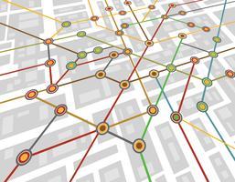 mappa della metropolitana vettore
