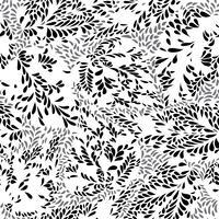 Modello floreale astratto Lascia la trama senza soluzione di continuità. Piantare sfondo vettore
