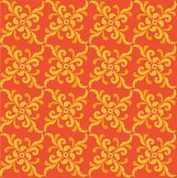 Motivo geometrico floreale retrò ornamento orientale fiorire. vettore