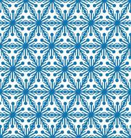 Reticolo delle mattonelle del fiocco di neve Ornamento di vacanza invernale Struttura geometrica