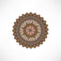 Elemento decorativo floreale orientale. Ornamento geometrico