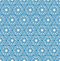 Reticolo delle mattonelle del fiocco di neve Ornamento di vacanza invernale Struttura geometrica vettore