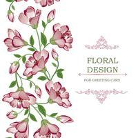 Modello di ghirlanda di confine senza cuciture floreale. Sfondo di fiori