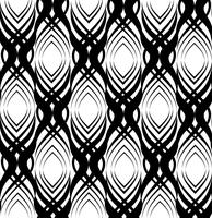 Modello senza cuciture astratto Ornamento floreale geometrico orientale linea vettore