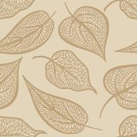 Motivo floreale con foglie Natura sfondo senza soluzione di continuità. Arredamento autunnale vettore
