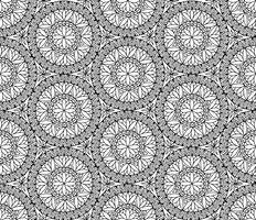 Modello astratto delle mattonelle di mosaico. Ornamento circolare geometrico orientale