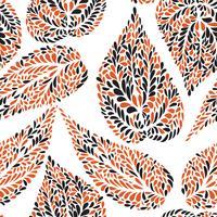 Motivo floreale Foglia testurizzati sfondo piastrellato Giardino ornamentale vettore