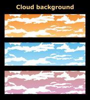 Nuvole di sfondi vettore