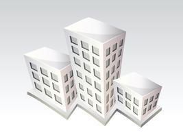 Edifici isometrici vettore