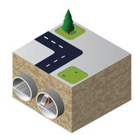 Tunnel isometrico vettore