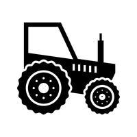 Icona del glifo del trattore nero vettore