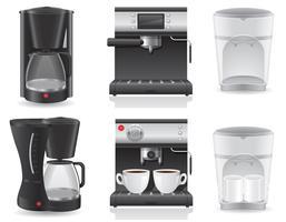 illustrazione vettoriale caffettiera