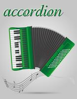 illustrazione vettoriale di strumenti musicali fisarmonica