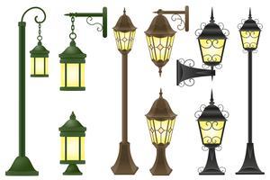 imposta illustrazione vettoriale lampione