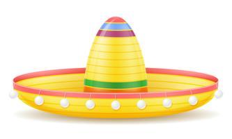 illustrazione di vettore del copricapo messicano nazionale del sombrero
