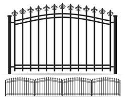 illustrazione vettoriale di ferro forgiato recinto