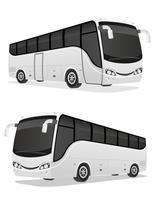illustrazione vettoriale di grande tour bus