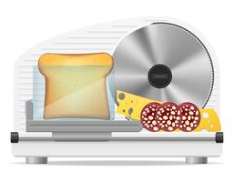 illustrazione vettoriale di cucina elettrica affettatrice