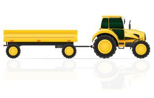 illustrazione vettoriale di rimorchio del trattore