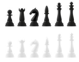 pezzi degli scacchi illustrazione vettoriale