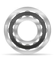 illustrazione vettoriale di cuscinetto a rulli in metallo