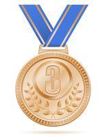 illustrazione vettoriale di bronzo sport vincitore medaglia