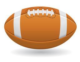 palla per l'illustrazione di vettore di football americano