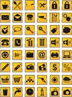 le icone hanno impostato per l'illustrazione di vettore di disegno