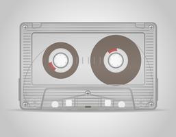 illustrazione vettoriale di audiocassetta