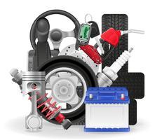 illustrazione di vettore delle icone di concetto dell'automobile