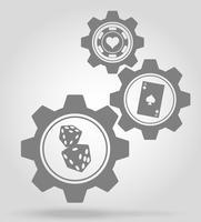 illustrazione di vettore di concetto del meccanismo di ingranaggio del casinò