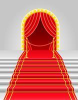 tappeto rosso con illustrazione vettoriale tornello